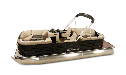 Legend Pontoon Boat Black Series Lounge Tri-Tube for sale in Ottawa